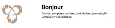Bonjour wifi network