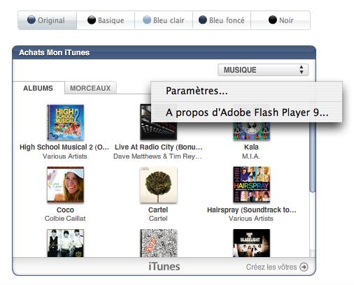 Mon iTunes widget